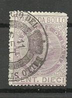 ITALIA ITALY Revenue Tax Fiscal Marca Di Bollo Umberto I O - Steuermarken