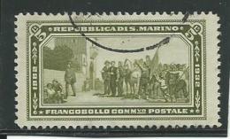 SAINT-MARIN: Obl., N°175, Petite Déchirure (2mm), Signé, Aspect TB - San Marino