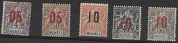 ⭐ Mohéli - YT N° 17 à 22 ** Sans Le N°18 - Neuf Sans Charnière - 1912 ⭐ - Unused Stamps