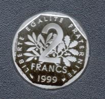 1999, 2 FRANCS  BELLE EPREUVE ( ISSUE DU COFFRET BE) - France