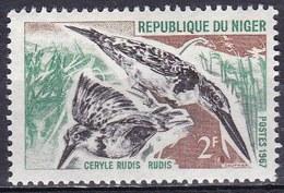 Niger, 1967 - 2f Pied Kingfisher - Nr.185 MNH** - Niger (1960-...)