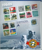 USA**SHEET Century 1960s-APOLLO-STAR TREK-BEATLES-BARBIE DOMM-BASEBALL-FOOTBALL-FORD MUSTANG-15vals- M.L. KING-Woodstock - Estados Unidos