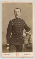 CDV Militaire 1880-90 Charles à Orléans. Cuirassier ? Dragon ? 6 Sur Le Col. - Fotos