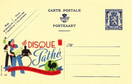 20536 - Entier Postal - Carte Publibel N° 536 -  Disque Pathé - Voir Photo Pour Détails - Stamped Stationery
