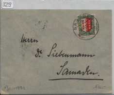 Pro Juventute 1921 J18 Wallis - Stempel Samaden - Pro Juventute