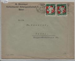 Pro Juventute 1932 2x J61 Fahnenschwinger - Stempel Basel - Pro Juventute