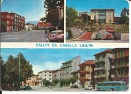 AL058- SALUTI DA CABELLA LIGURE - F.G. VIAGGIATA 1977 - AUTO D'EPOCA - Alessandria