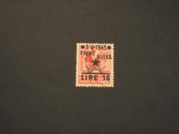 FIUME -  1945 MONUMENTO 16 Su 75 - TIMBRATO/USED