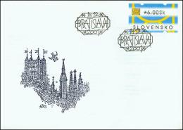 Slovakia 2001, FDC Cover ATM Stamp Mi.# 1, Ref.bbzg - FDC