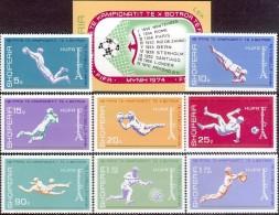 ALBANIA 1973, SPORT, SOCCER WORLD CUP In GERMANY, COMPLETE, MNH SET + Block, GOOD QUALITY, *** - Coppa Del Mondo