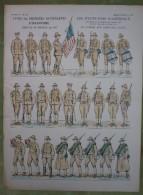 Imagerie D'Epinal - ETATS-UNIS D'AMERIQUE Contingents Infanterie - Planche D'uniforme Par Pellerin & Cie à Epinal N°770 - Stampe & Incisioni