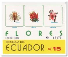 Ecuador 1986, Postfris MNH, Flowers - Ecuador