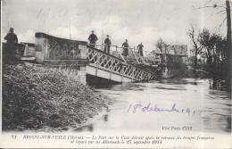 BREUIL SUR VESLE - 51 - Le Pont Sur La Vesle Détruit Et Réparé Par Les Allemands Le 27/09/1914 - DPE - - Other Municipalities