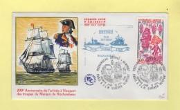 Arrivee Du Suffren A Newport - 12 Avril 1980 - Postmark Collection (Covers)