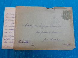 Enveloppe Entiere Timbree 1904 Obliteration Dentelee  Givet  ? Sous Reserve Et Marsac Creuse - Marcophilie (Lettres)