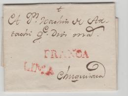 Per052 / PERU -  Lima Nach Chiquisaca (Bolivien) 1801 Mit Vollem Textinhalt - Peru