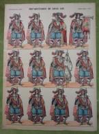 Imagerie D'Epinal - MOUSQUETAIRES DE LOUIS XIII - Planche D'uniforme Par Pellerin & Cie à Epinal - N°371 - Stampe & Incisioni