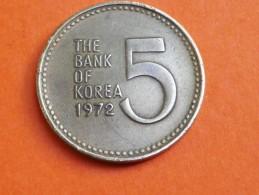 COREE SUD  5   WON + 10 WON 1972        KM  5.a Et 6.a - Korea, South