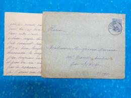 Enveloppe Entiere Timbree 1905 Obliteration Pointille Marsac Creuse Et Yvoir - Belgique