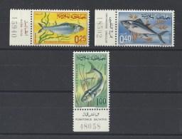 MAROC .YT.  514/516 Neuf **  Poissons  1967 - Marocco (1956-...)
