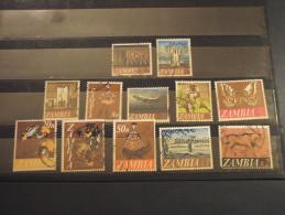 ZAMBIA - 1968 PITTORICA 12 VALORI (K 2 Dente Corto) - TIMBRATO/USED - Zambia (1965-...)