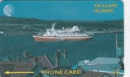 Falkland Islands,  FLK2B, £10,Cruise Ship, 2CWFB, 2 Scans .