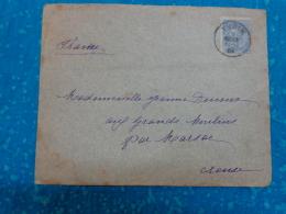 Enveloppe Entiere Timbree 1904 Obliteration Pointille Marsac Creuse Et Yvoir- - Belgique