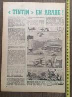 PUB PUBLICITE HERGE TINTIN EN ARABE - Collections
