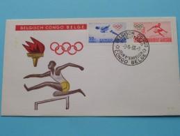 BELGISCH CONGO BELGE 2-5-60 / Olympische Spelen ( Zie Foto´s Voor Details ) - 1947-60: Lettres