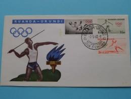 RUANDA - URUNDI 2-5-60 Olympische Spelen ( Zie Foto´s Voor Details ) - Ruanda-Urundi