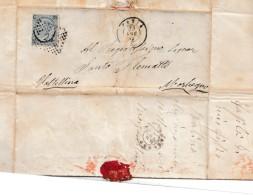 C626 - Lettera Del 25 Luglio 1867 Da PAVIA A Morbegno Con Cent. 20 Su 15 , 3° Tipo .  Leggi ... - Storia Postale