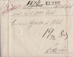 Brief Gelaufen Von L1 Elze 28.5.1831 Nach Osterode - Deutschland