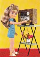 "CARD BAMBOLA ""FURGA"" ITALY TELEVISORE VIAGGIO VERSO LA LUNA -  FG-V-2-  0882 25421 - Games & Toys"