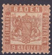 LOTE 732  ///  (C160)  ALEMANIA BADEN 1866    MICHEL Nº: 20a * MH      //  CATALOG./COTE: 20€ - Baden