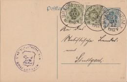 Württemberg GS Zfr. Minr.2x 155 Brackenheim 27.1.22 - Wuerttemberg