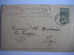 Entier Postal Armoiries FLEMALLE 1898 Vers LIEGE - Cachet Privé WINGENDER FRERES Manufacture De Pipes En Terre à CHOKIER - Entiers Postaux