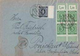 Gemeina. Brief Mif Minr.914, 4x 915  2x OR Walze Und 2x UR Walze Bautzen 19.12.46 - Gemeinschaftsausgaben