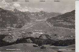Niederurnen - Oberurnen Mit Eternit-Werke,   (Glarus)  Linth- Und Escher-Kanal    Um 1965 - GL Glaris