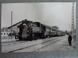 72 BONNETABLE PHOTO GARE LOCOMOTIVE    TRAIN  FACS MSC CHEMINS DE FER - Trains