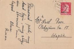 Ostland Karte EF Minr.8 Tallin 20.12.42 - Besetzungen 1938-45