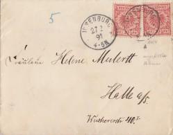 DR Brief Mef Minr.2x 47b Mit CP-Fehler Ilsenburg 27.2.91 Geprüft - Deutschland
