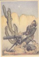 """CARD  GRANATIERE  MITRAGLIATRICE """"L'EROICO SACRIFICIO"""" GUERRA -ITALO-ABISSINA 2 SCANNER-FP-N-2-0882-25433-432 - War 1939-45"""