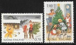 Finland, Scott # 660-1 Used Christmas, 1981
