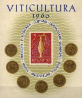 Weine 1960 Rumänien Block 48 ** 6€ Winzer-Kanne Wein Pietroasa Gold-Schatz Bloque Hojita Hb Bloc Ms Art Sheet Bf ROMANIA - Wines & Alcohols