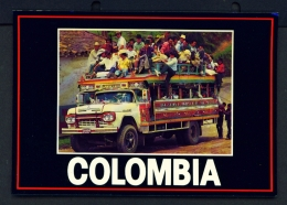 COLOMBIA  -  Ladder Bus  Unused Postcard - Colombia
