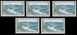 Timbre France N° 977 Vallée De La Seine 8 Fr.1954 NEUFS LOT 5 X 0.20€ ** - Francia