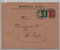 Pro Juventute 1917 J9 Tessinerin + Tellknabe Von Sirnach Nach St. Gallen - Aktienstickerei - Pro Juventute