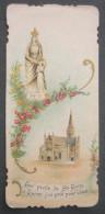 IMAGE PIEUSE (chromo Bonamy Vers 1910) : AUX PIEDS DE SAINTE ANNE D´AURAY J´AI PRIE POUR VOUS / HOLY CARD / SANTINO - Images Religieuses
