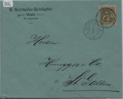 Pro Juventute 1917 J8 Unterwaldnerin - Wald Appenzell Nach St. Gallen - Lettres & Documents