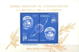 Wostok 5+6 Mit 1.Frau Der Welt Im Raumflug 1963 Rumänien Block 54 ** 5€ Bloque Hojita Hb Bloc M/s Space Sheet Bf ROMANIA - Blocs-feuillets
